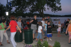 june2005-147 -Noisy Neighbors Band at Pewaukee Waterfront Wednesday's